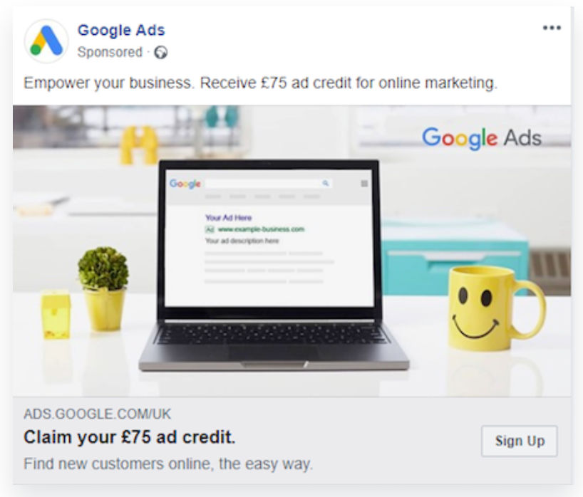 facebook ad type link click ad 2
