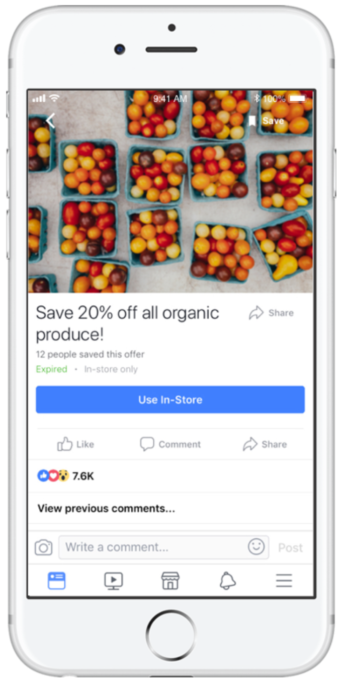facebook ad types offers 2