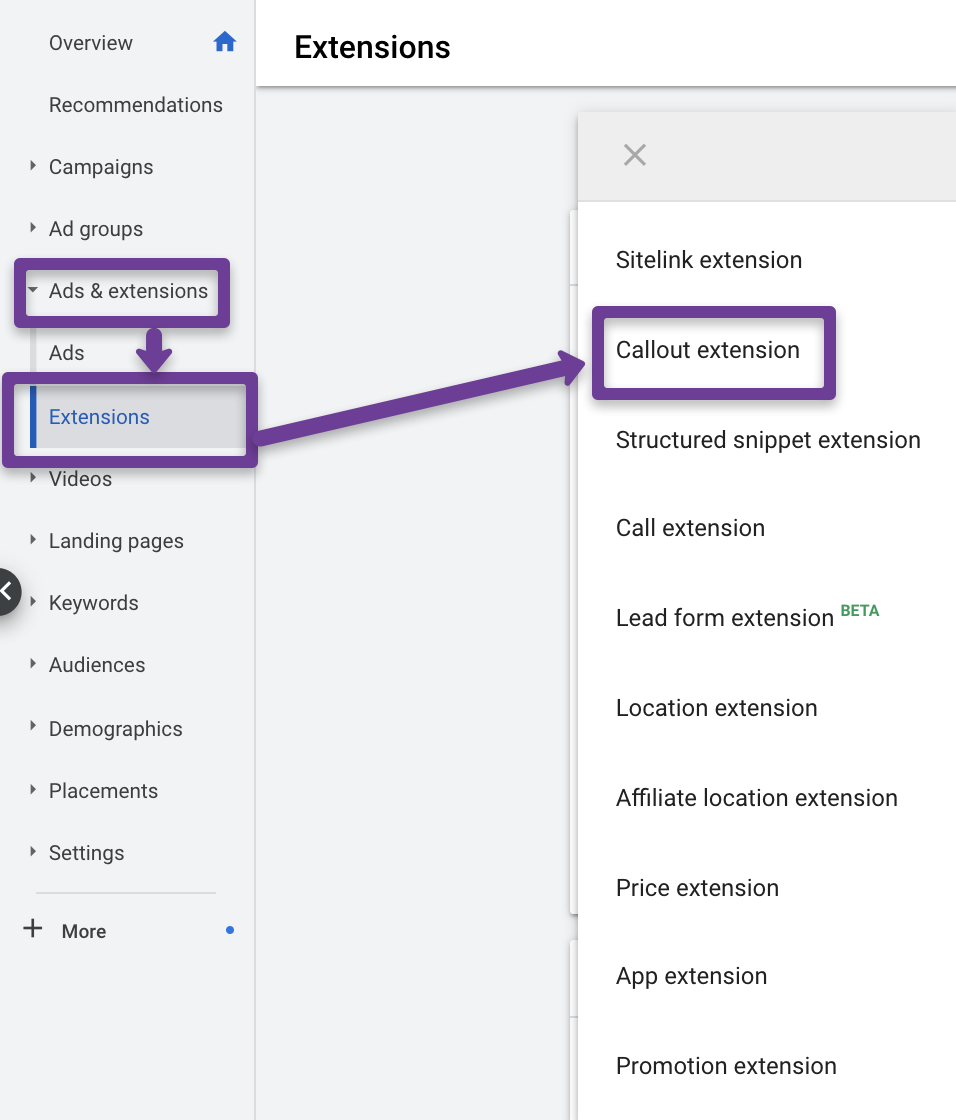 How Google Callout Extensions Work