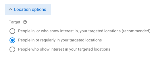 location targeting google ads