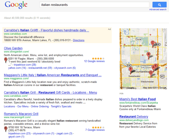 geotargeting SERP local search