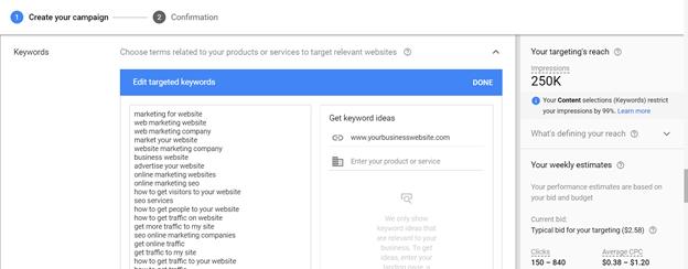 Google Ads Display Planner