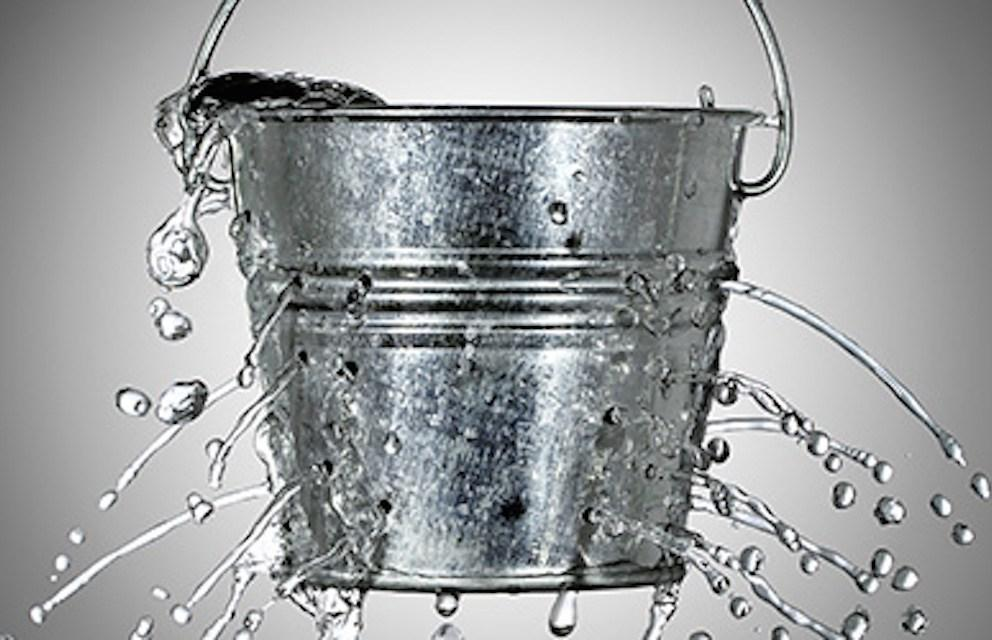 metaphor for the leaky bucket