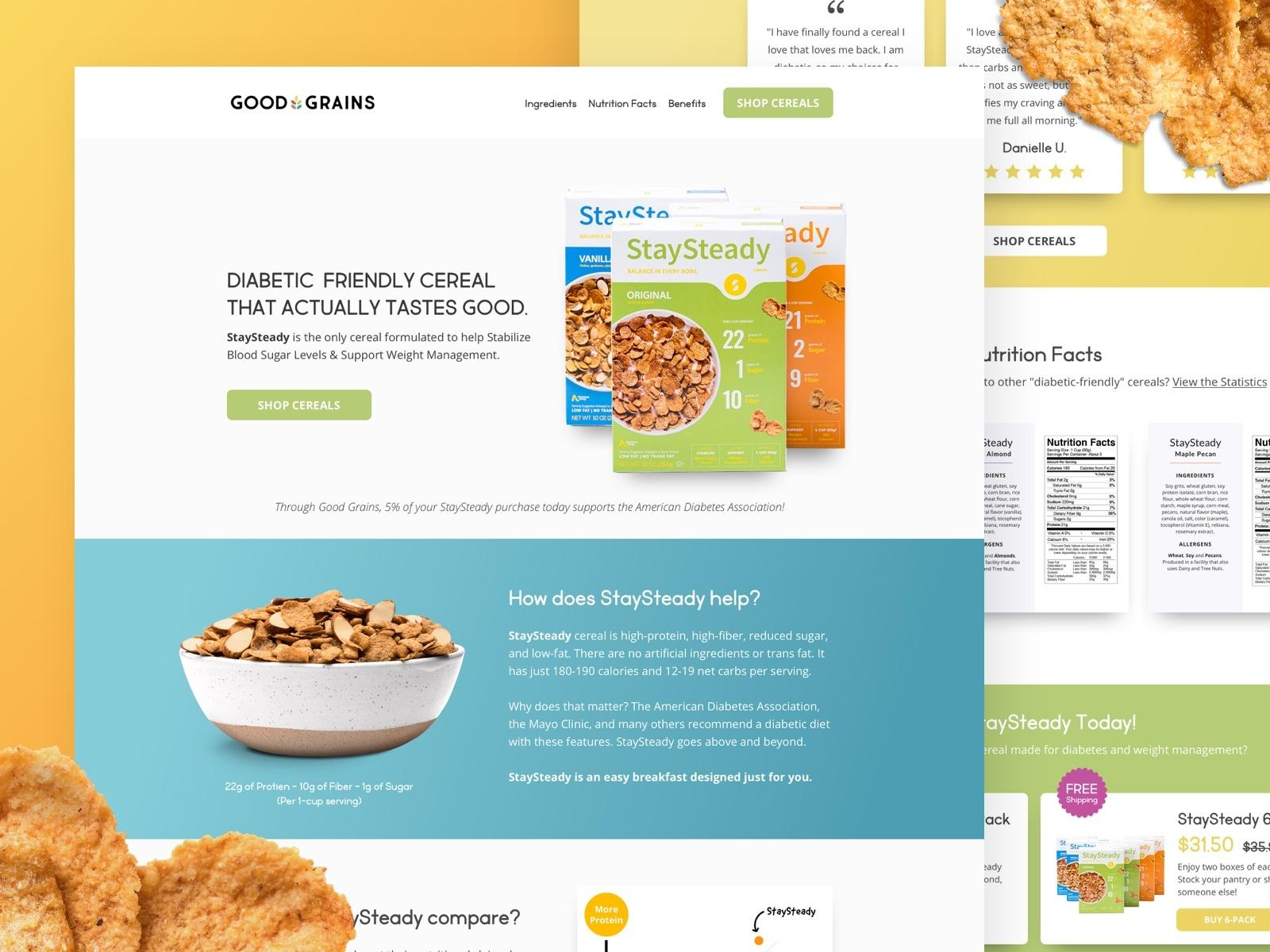 case study example of Good Grains - a former KlientBoost optimization glory
