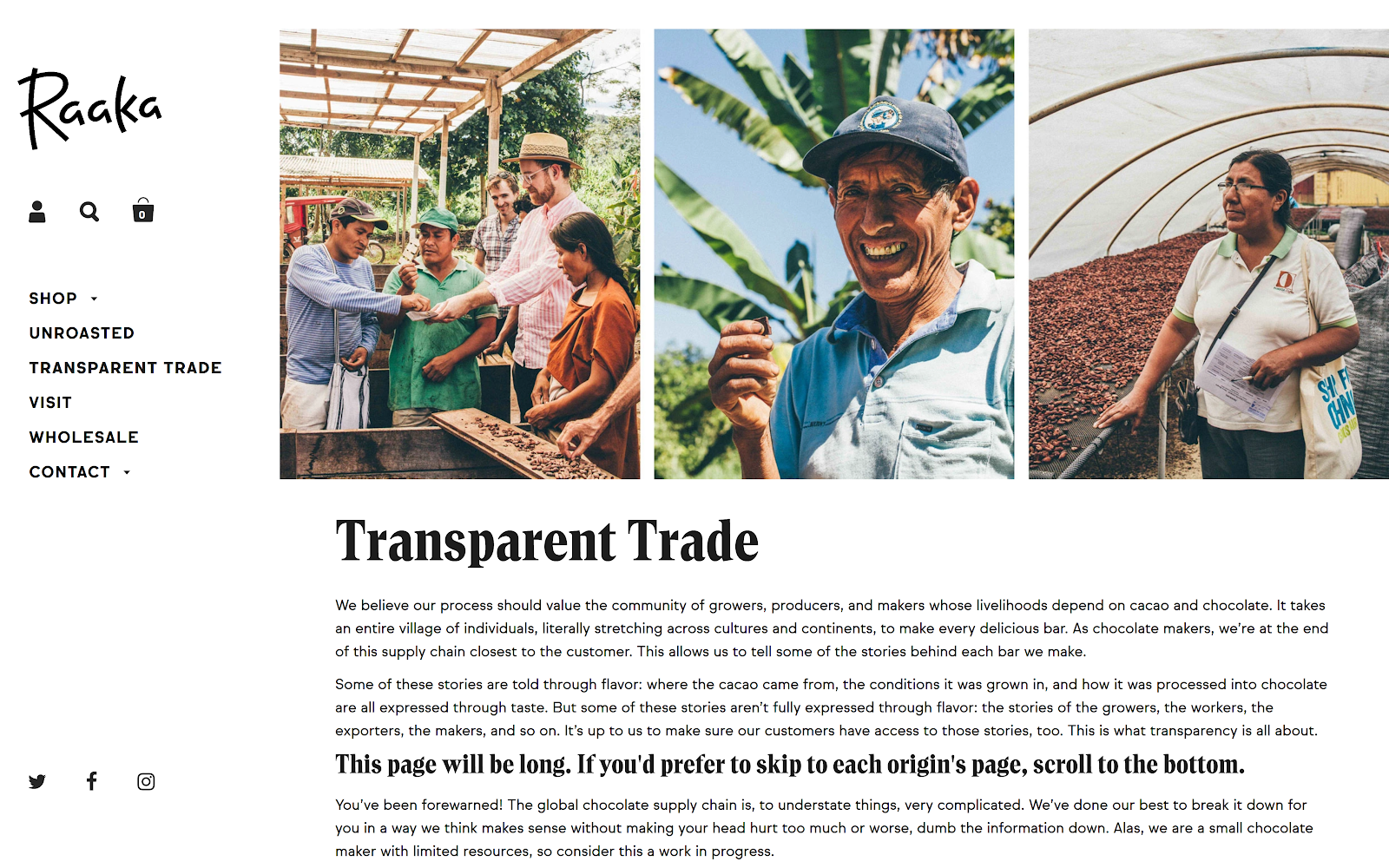 Raaka's Transparent Storytelling