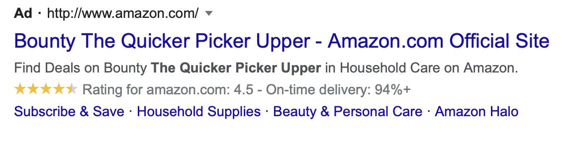 Bounty Ad the quicker picker upper