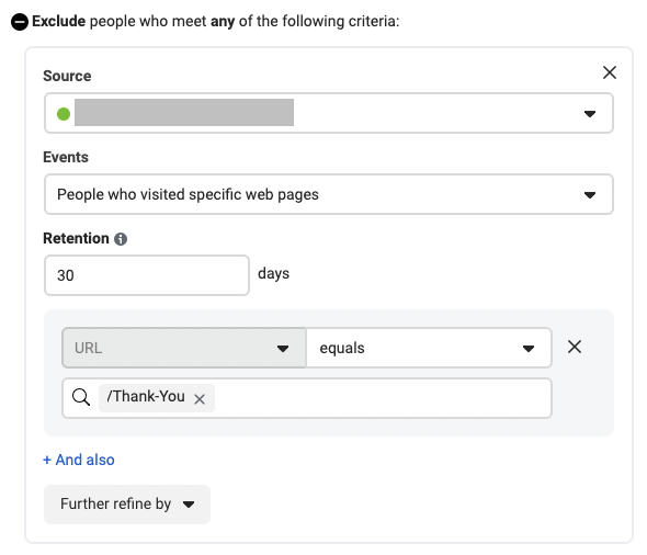 How to target people who visited specific web pages for Facebook Custom Audience