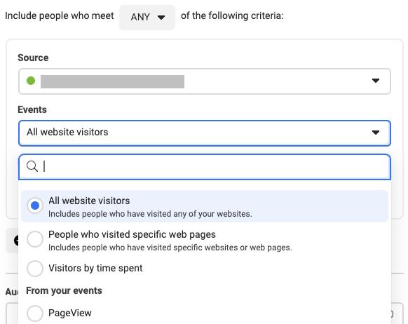 How to target all Website visitors in Facebook Custom Audience