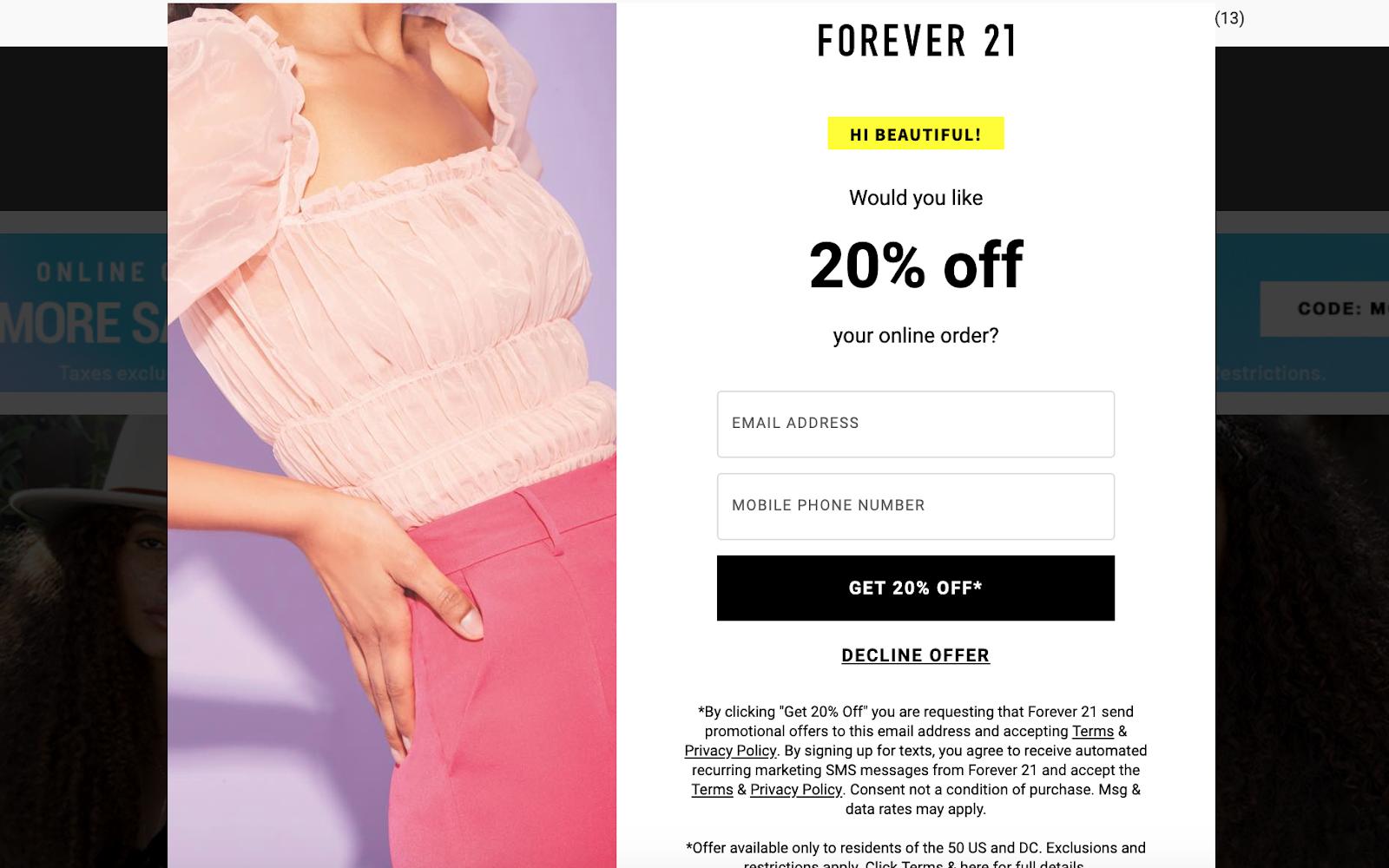 Forever 21 CTA