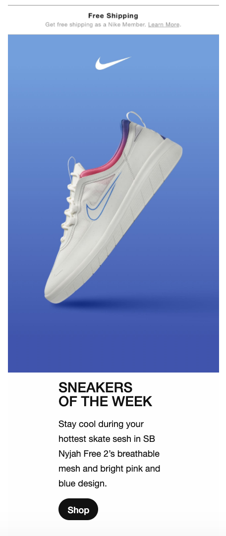 Nike Shop CTA
