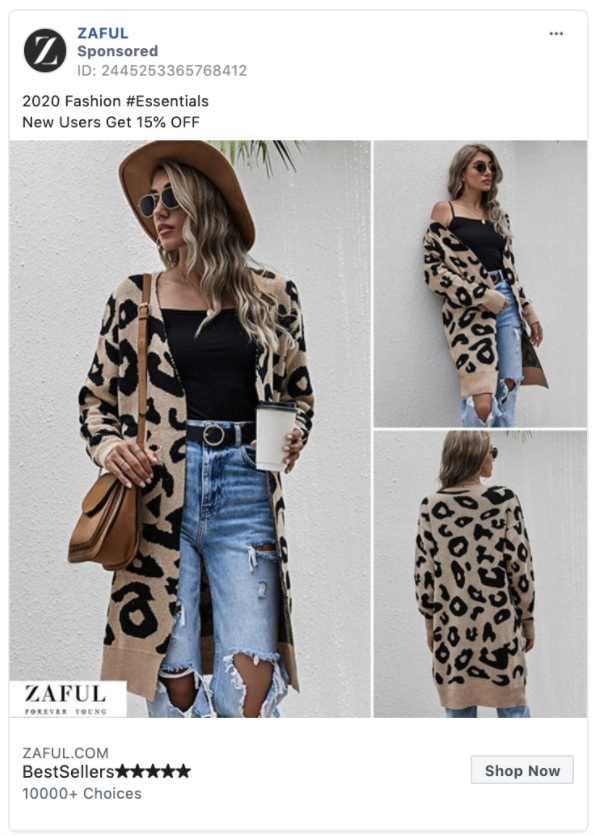 Zaful Shop Now CTA