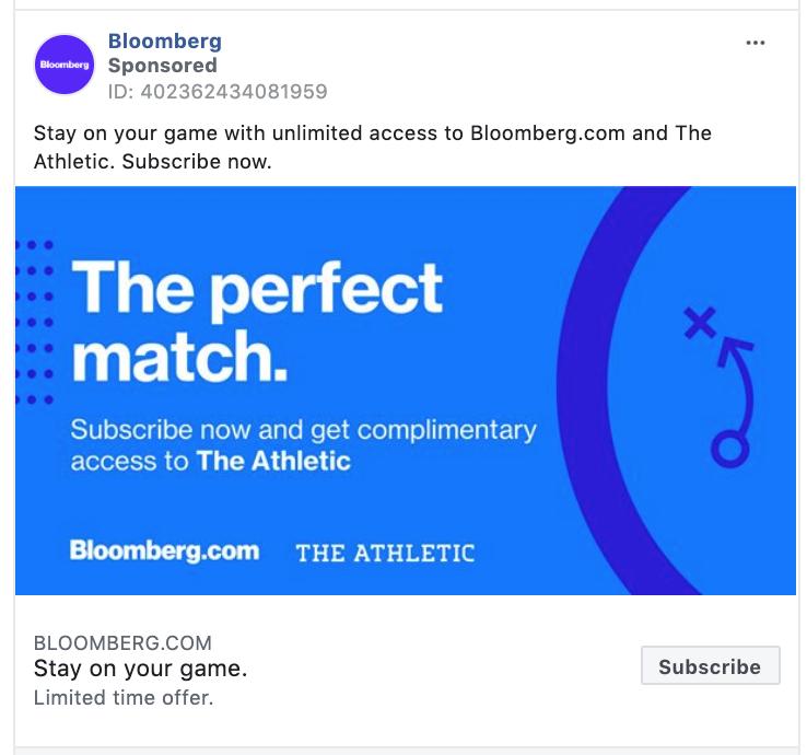 Bloomberg Subscribe CTA