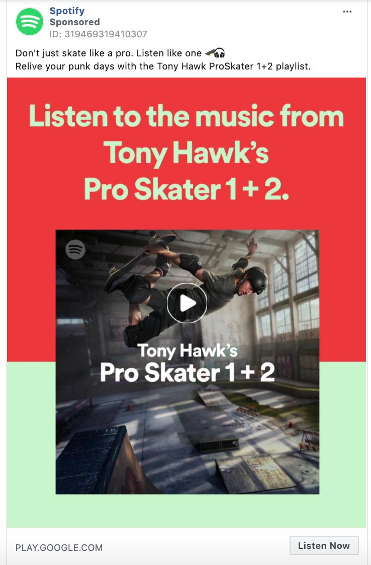 Spotify Listen Now CTA