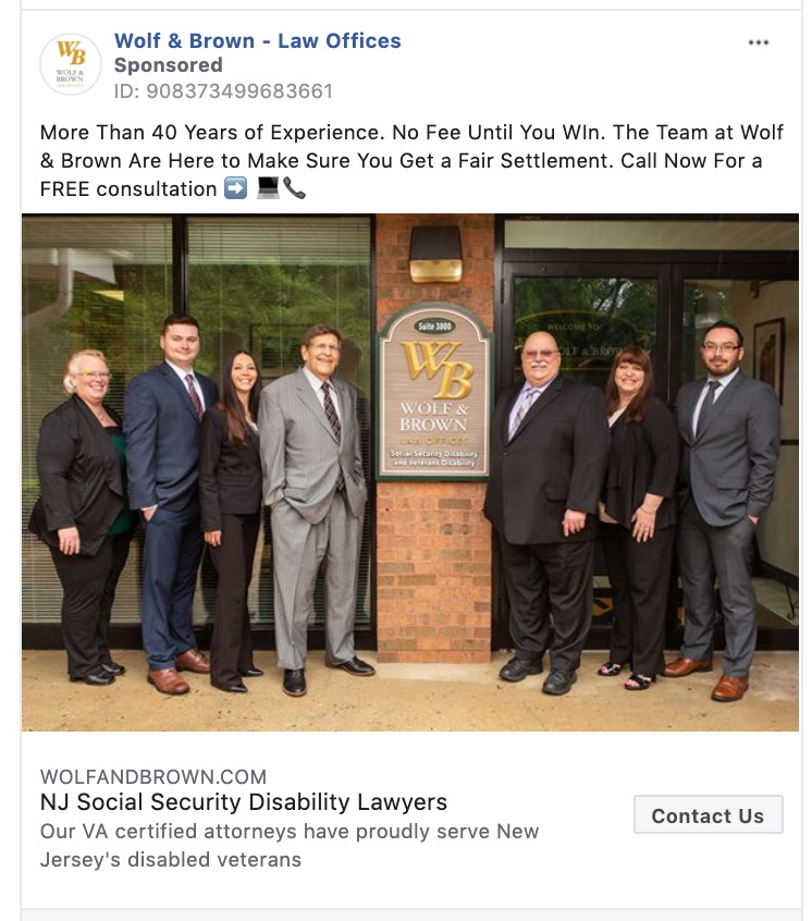 Wolf & Brown Law Offices Contact Us CTA