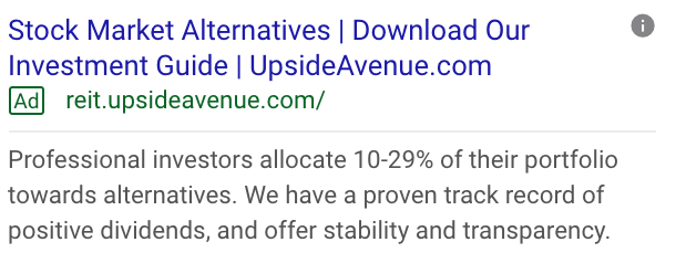 Upside Avenue CTA Download Our Investment Guide