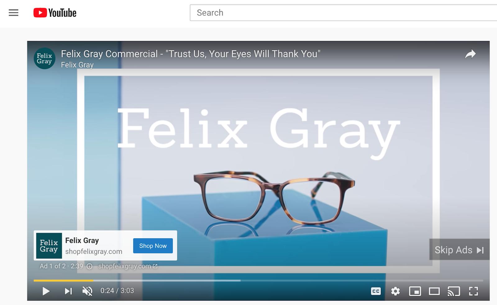 Felix Grey Youtube CTA Shop Now
