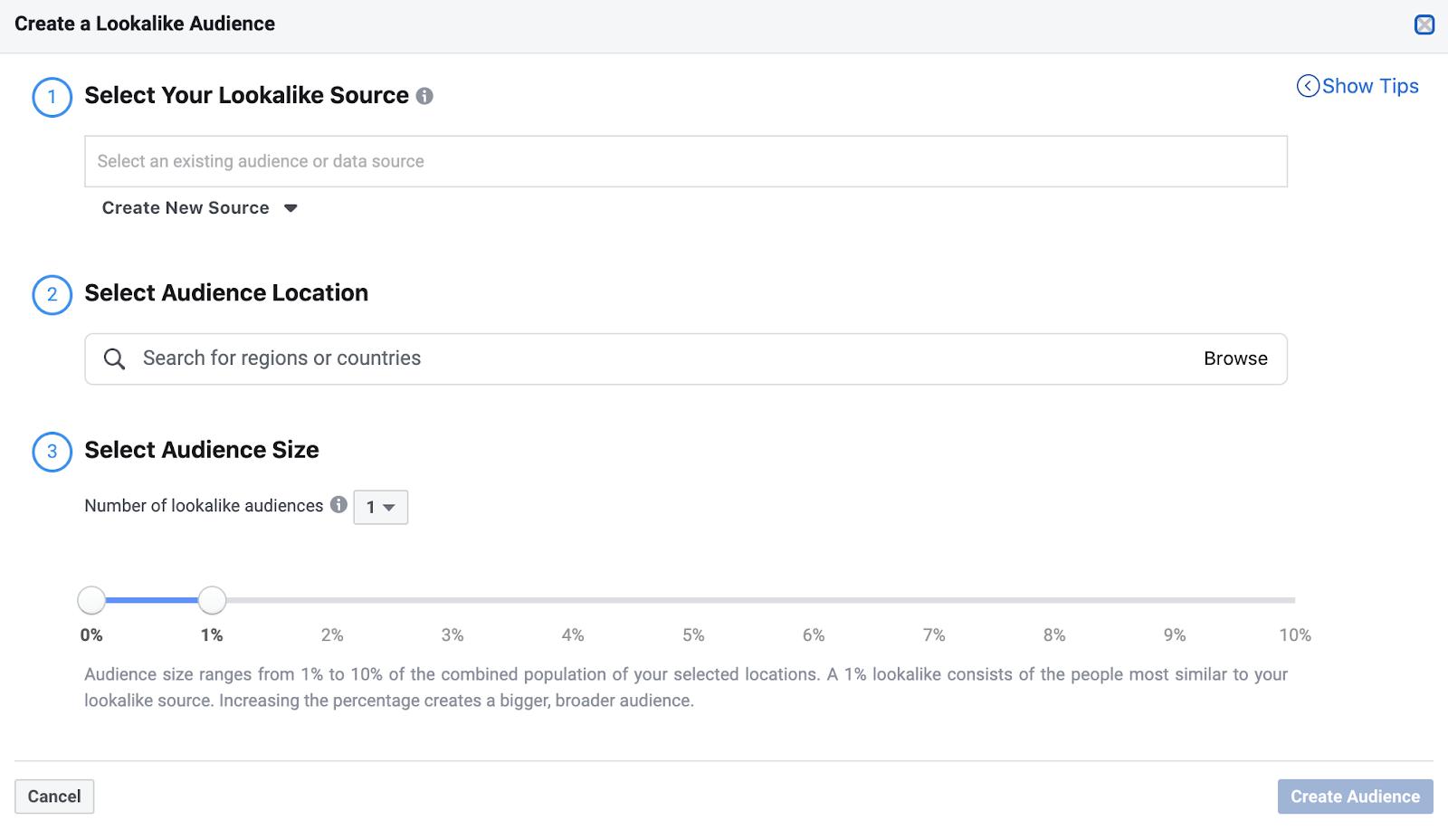 Create a Facebook Lookalike Audience