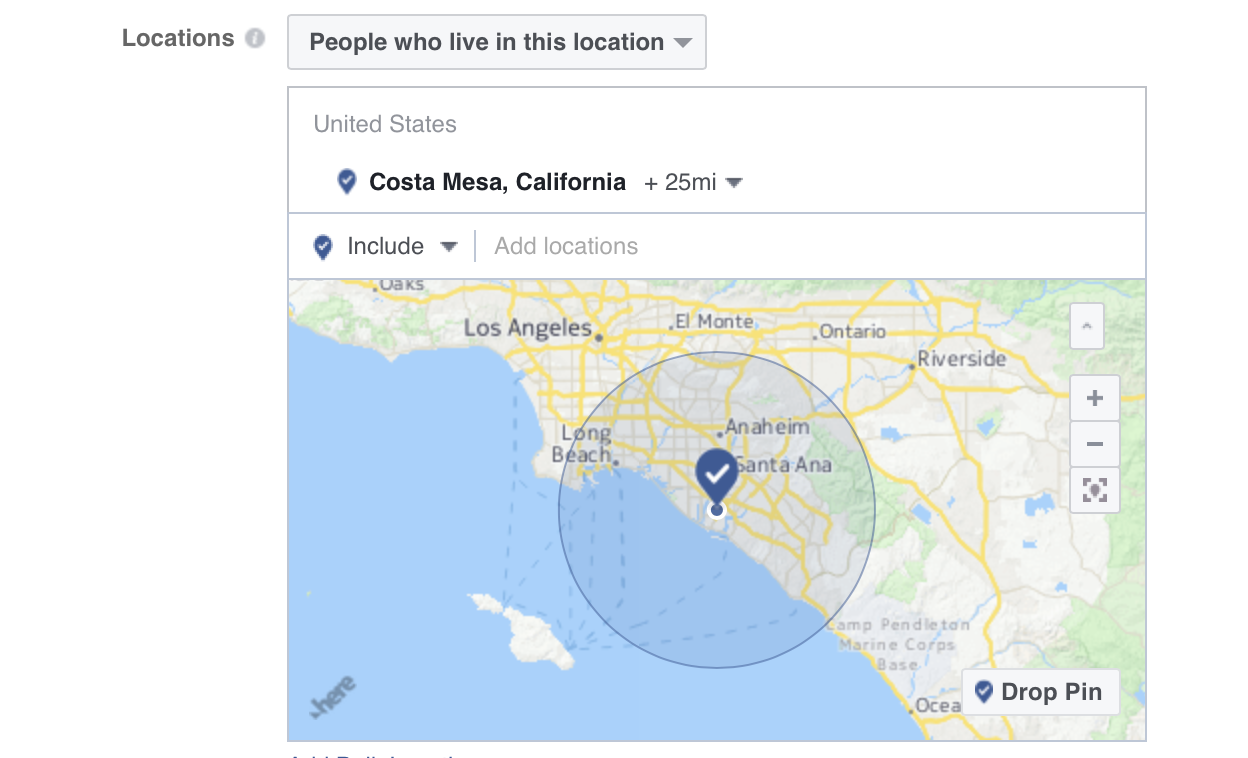 Target people in specific locations