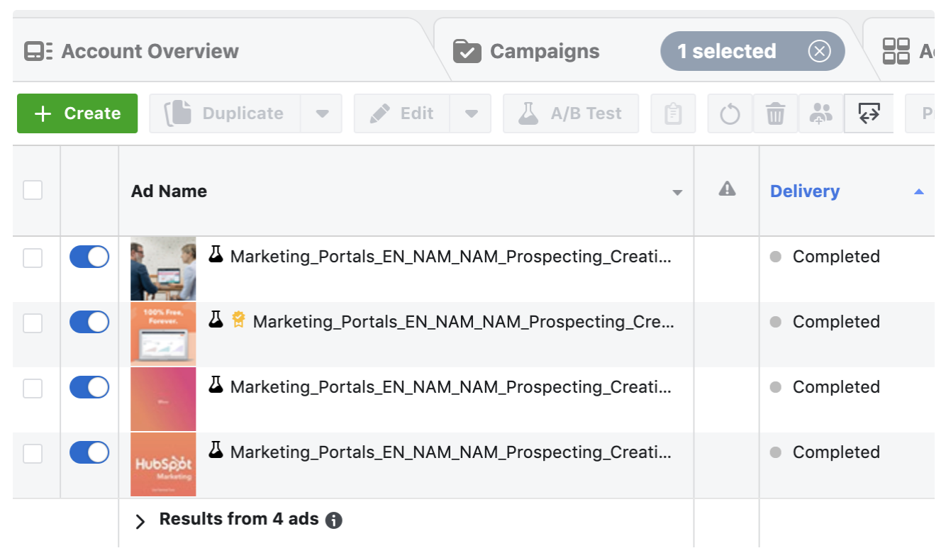 A/B Testing in Facebook Ads Manager