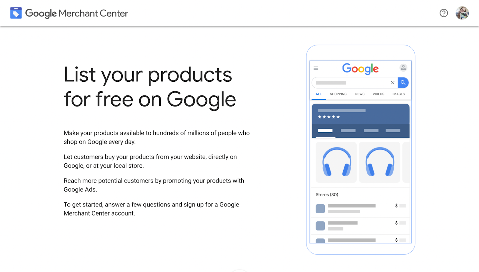 Getting started with Google Merchant Center