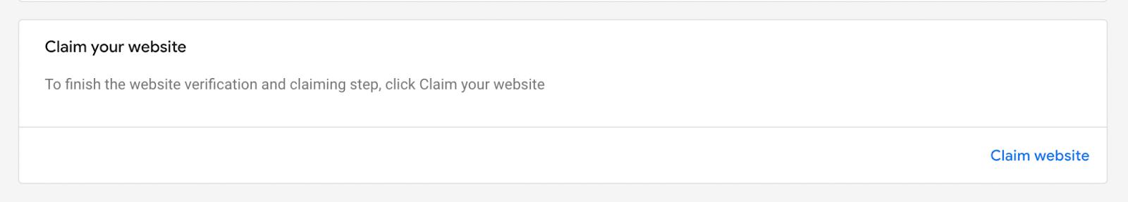 Claim your website