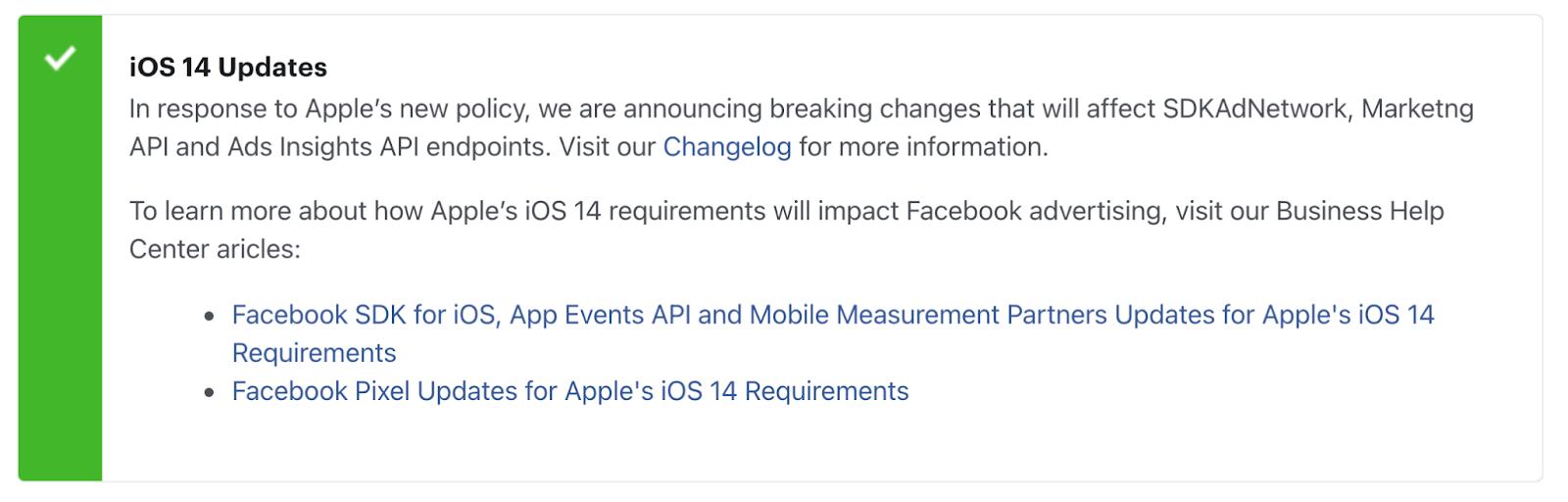iOS 14 impacts the Facebook Pixel