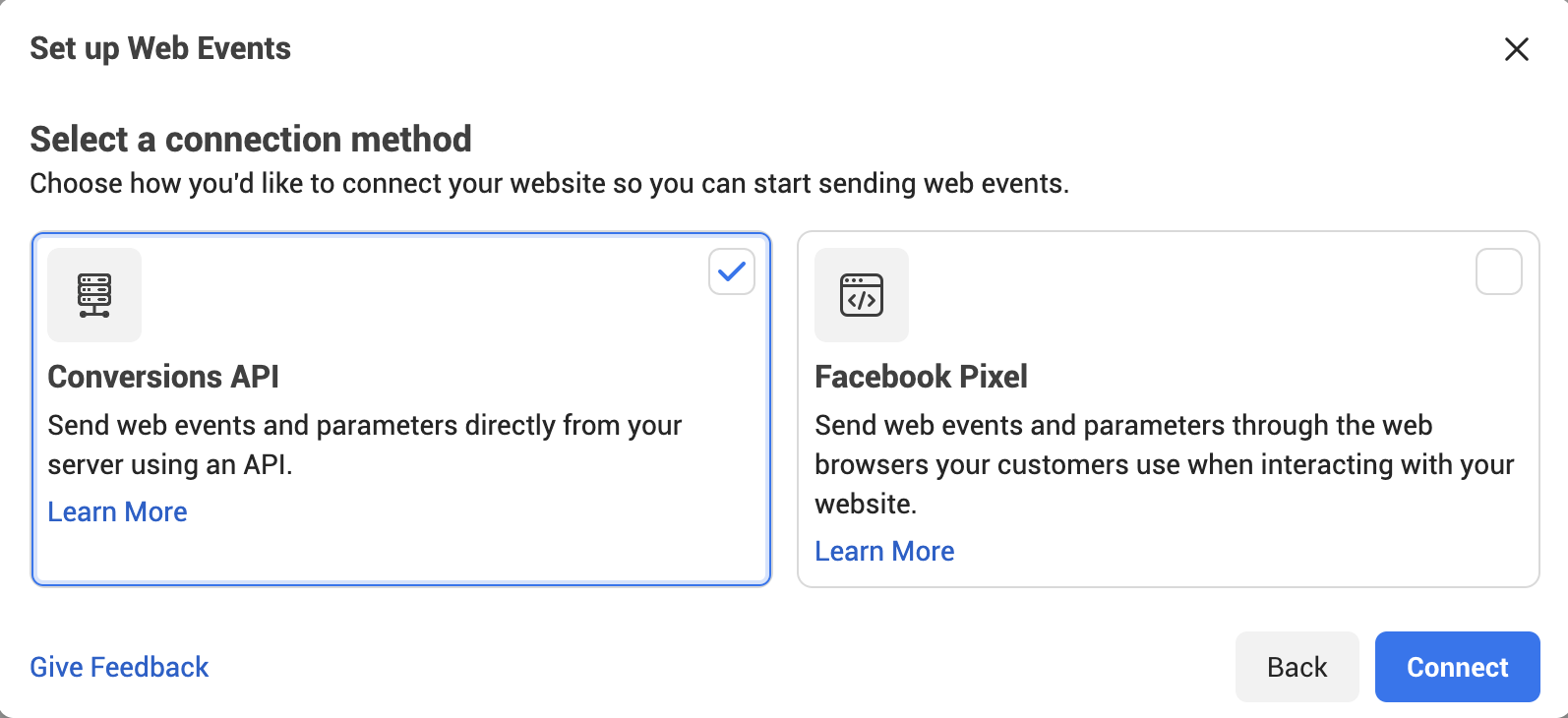 Facebook Conversions API in Events Manager