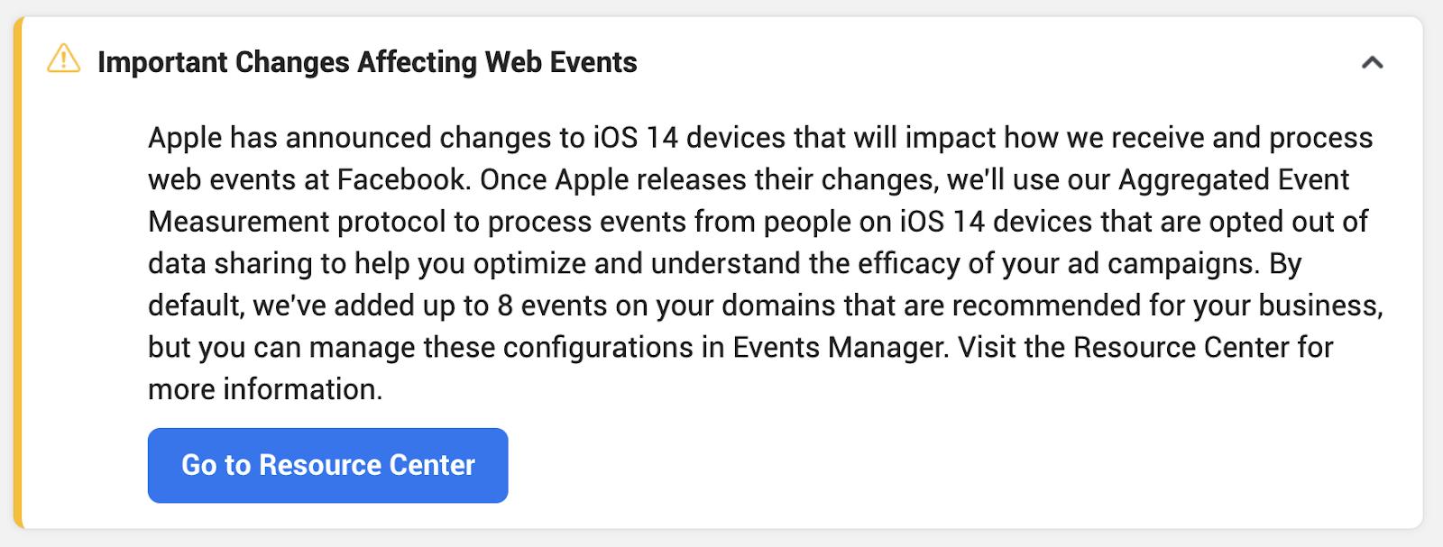 Facebook's response to iOS 14