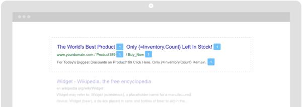 live inventory ad copy