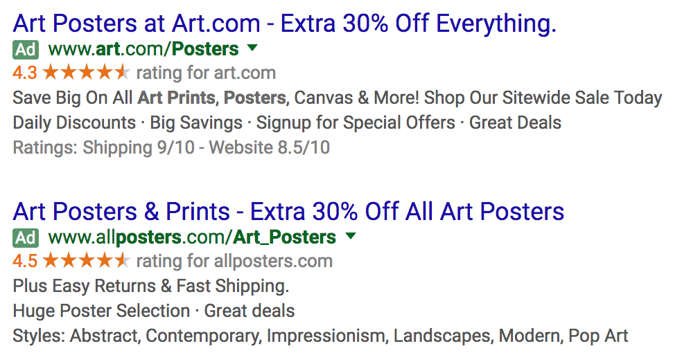 Ad for posters