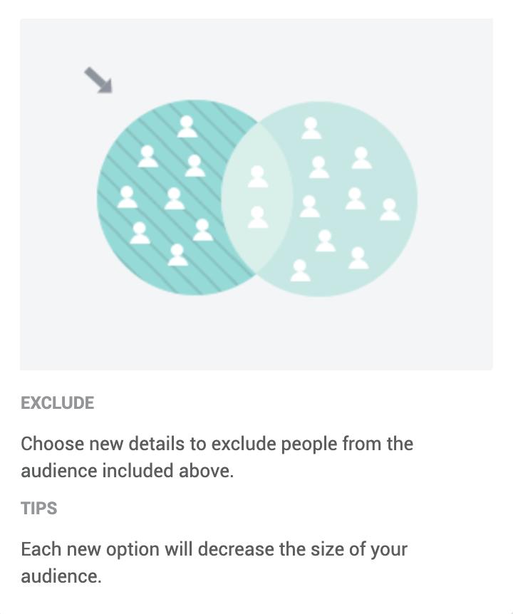 Excluding in Facebook audiences