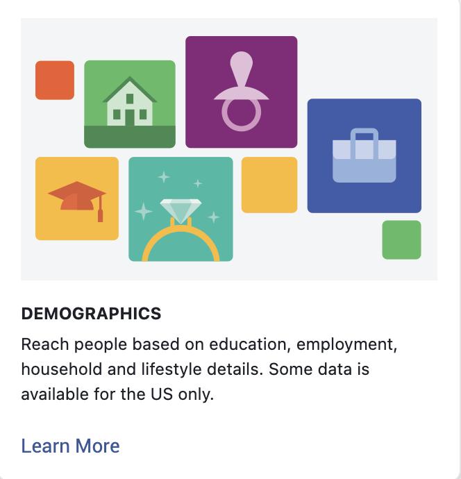 Detailed targeting, Demographics