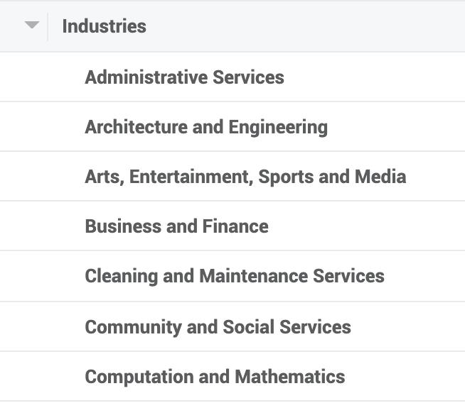 Industries on Facebook