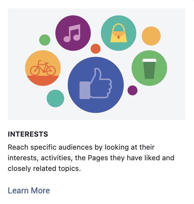 Detailed targeting interests on Facebook