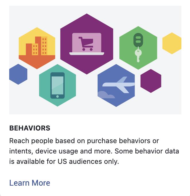 Detailed targeting behaviors Facebook