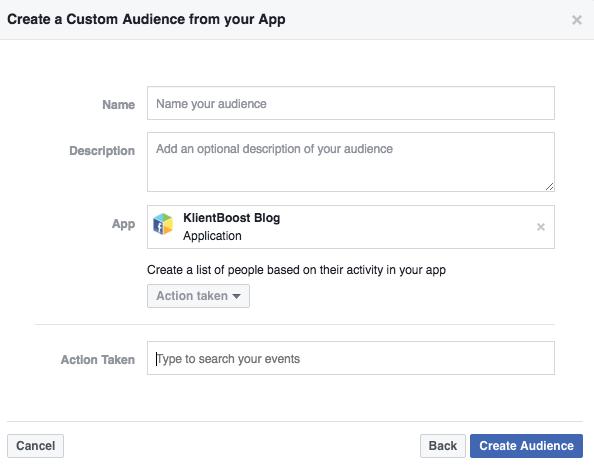 app activity in facebook advertising