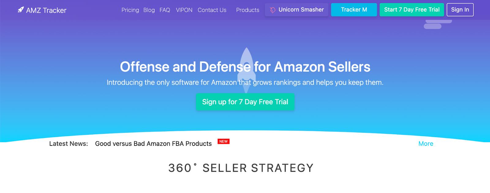 AMZ Tracker Amazon keyword tool