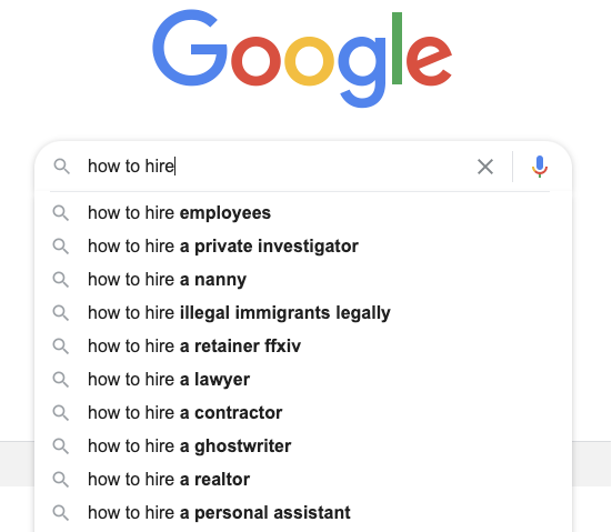 The Google search autosuggest can be great at giving topic recommendations