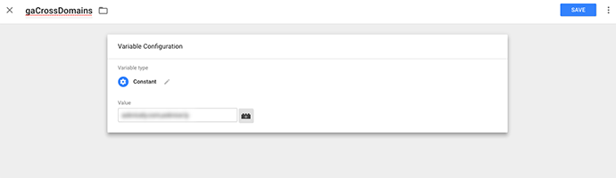 In the field, you'll add your list of domains, separated by a comma with no spaces.