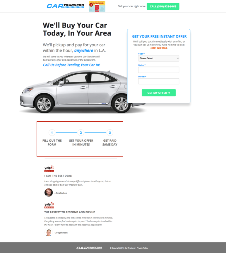 KlientBoost Landing Page Notes Benefits to Support the UVP