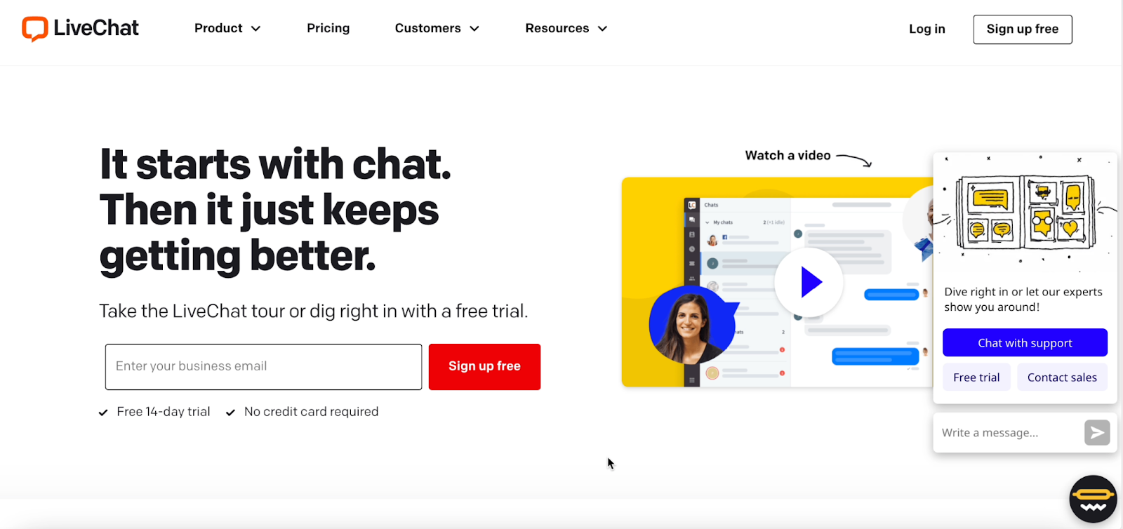 Take the opportunity to get feedback from website & landing page visitors via chat.