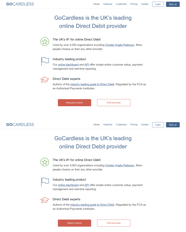 GoCardless was able to increase their product demo conversions.