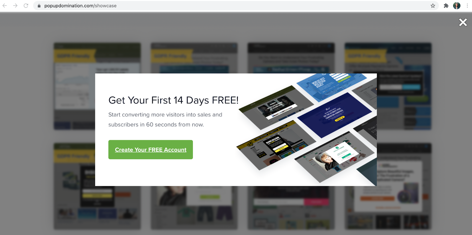 Using this in your popup creates urgency, but in a classy way.