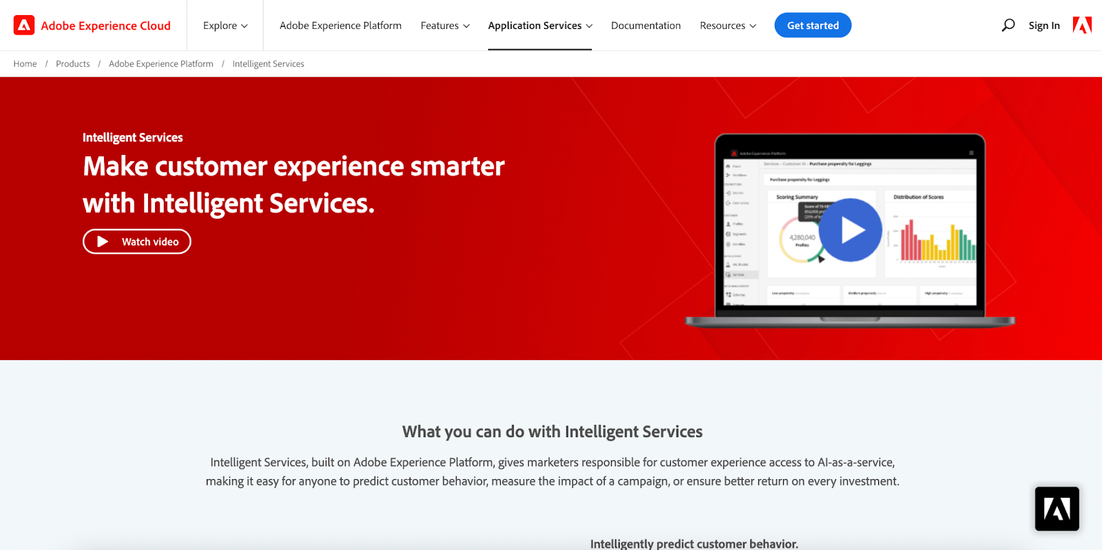 Adobe explainer video of their Intelligent Services product