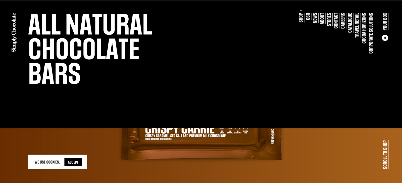 Simply Chocolate: The menu bar matches the color scheme and hides the goody. Brilliant