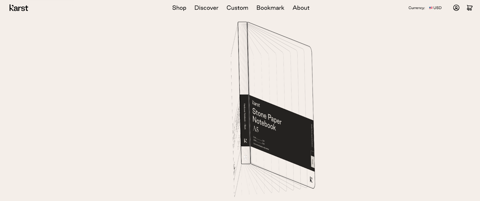 Karst: The animation evolves from line art into the real product in two seconds.