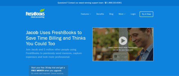 Freshbooks: Personalizing a landing page based on referrals creates immediate trust.