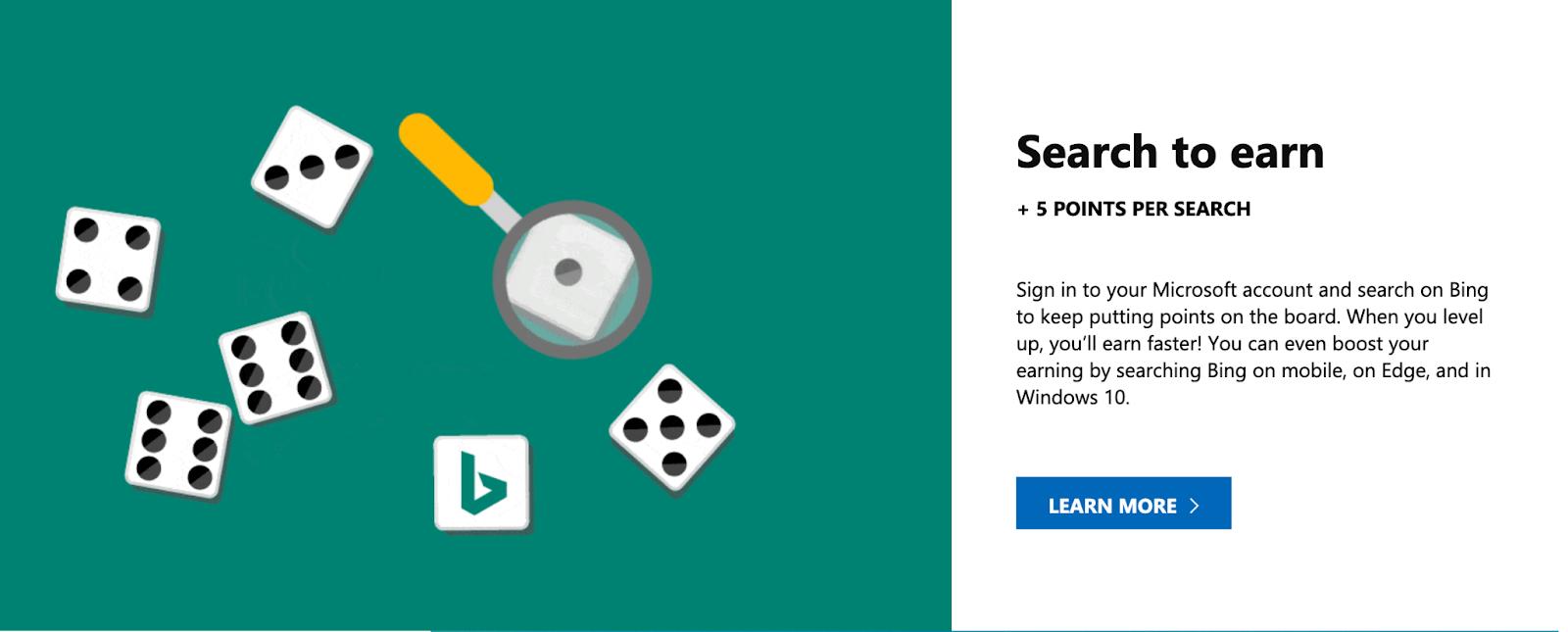 Bing Search to earn