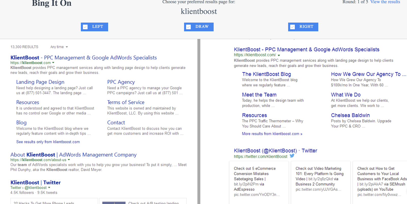Bing search ads. Which do you prefer?