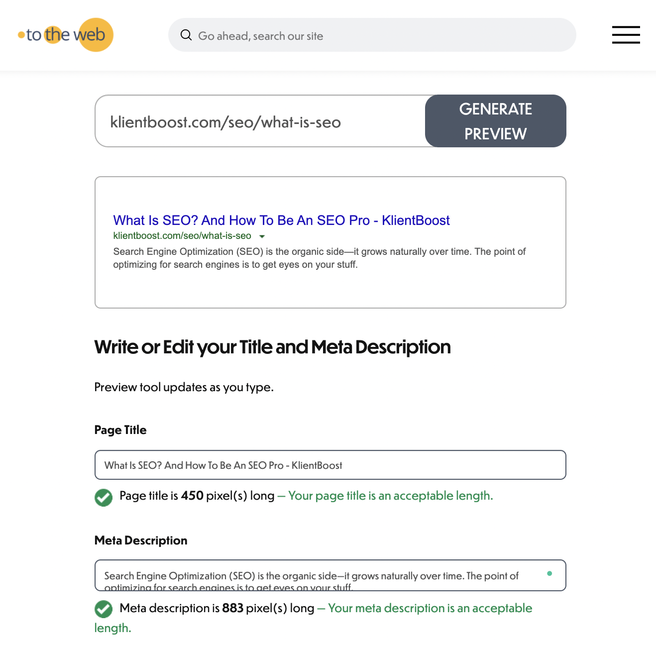 50 best SEO tools - to the web